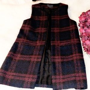 🆕SANCTUARY Window Pane Long Wool Vest